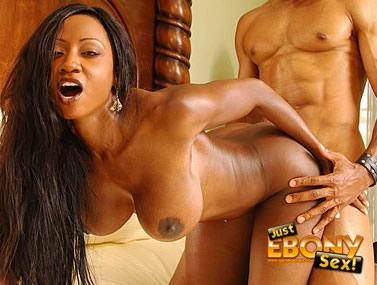 Big Titty Ebony Gets On All Fours